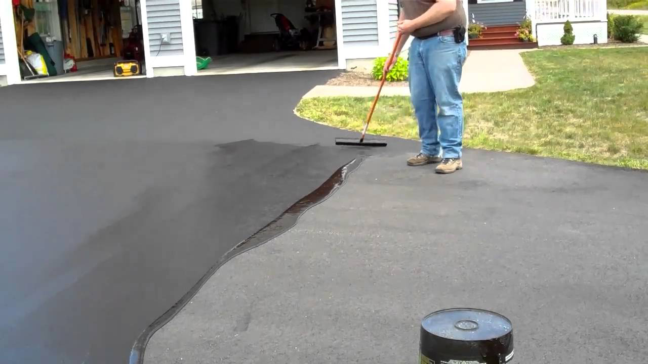 Asphalt sealing prolong the life of your driveway or for Temperature to pour concrete driveway