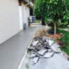concrete walkway removal