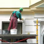 building painting stucco